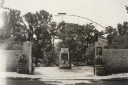 Entrée du camping dans les années 50