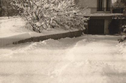 Neige hiver dans les années 60