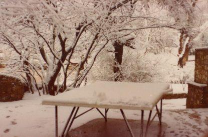Neige hiver dans les années 70