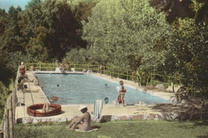 Piscine dans les années 50